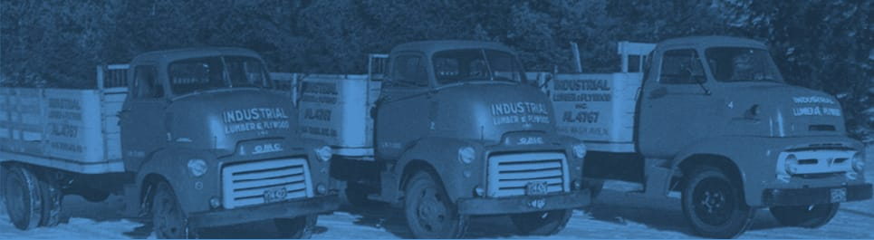 lumber trucks - vintage photo